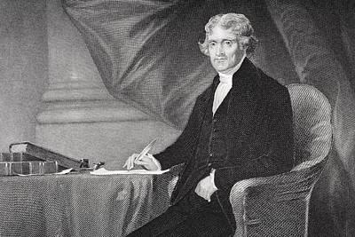 Thomas Jefferson Drawing - Thomas Jefferson 1743-1826. Third by Vintage Design Pics