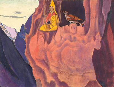Animal Symbolism Painting - Tidings Of The Eagle by Nicholas Roerich