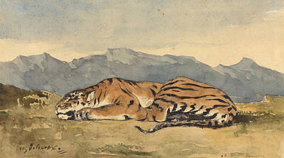 Tiger Painting - Tiger by Eugene Delacroix