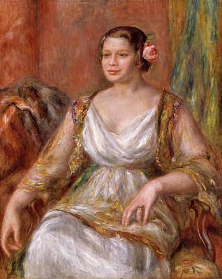 Chair Painting - Tilla Durieux by Pierre-Auguste Renoir