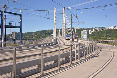 Work In Progress Photograph - Tilikum Crossing Bridge Portland Oregon. by Gino Rigucci