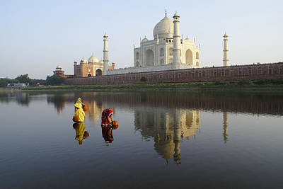 Timeless Taj Mahal Print by Michele Burgess
