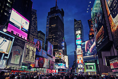 Times Square Print by Benjamin Matthijs
