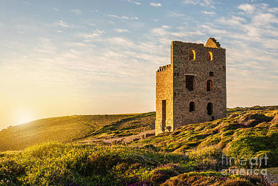 Tin Mine At St. Agnes, Cornwall, England Print by Amanda And Christopher Elwell