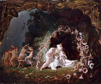 Painting - Titania Sleeping by Richard Dadd