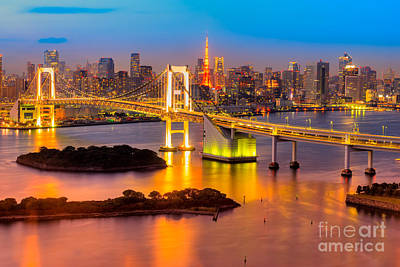 Tokyo Skyline Photograph - Tokyo - Japan by Luciano Mortula