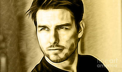 Celebrities Mixed Media - Tom Cruise Collection by Marvin Blaine
