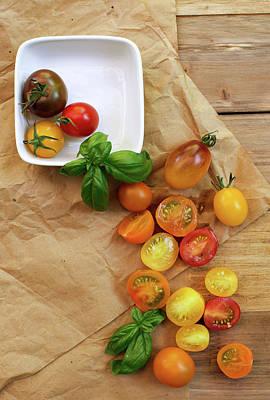 Colander Photograph - Tomato Still Life 5 by Rebecca Cozart