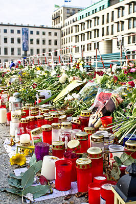 Terrorist Photograph - Tributes by Tom Gowanlock