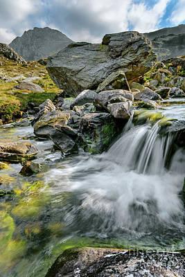 Wales Digital Art - Tryfan In The Ogwen Valley by Adrian Evans