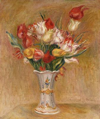 Pierre-auguste Renoir Painting - Tulips by Pierre-Auguste Renoir