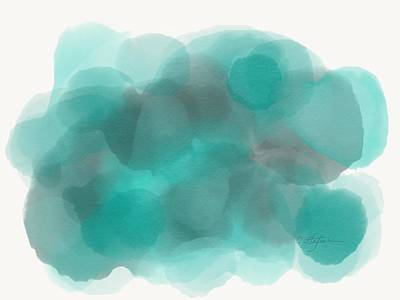 Abstract Painting - Turquoise by Cristina Stefan