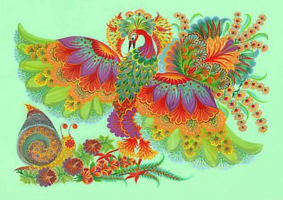 Two Beauties Print by Olena Skytsiuk