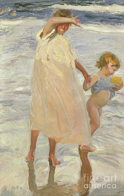 Innocence Painting - Two Sisters, Valencia by Joaquin Sorolla y Bastida