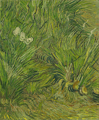Landscape Painting - Two White Butterflies by Vincent van Gogh