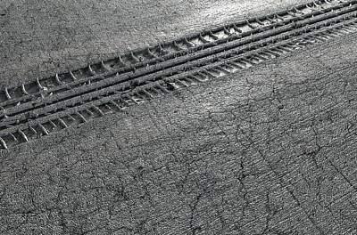 Cracks Digital Art - Tyre Track In The Ground by Allan Swart