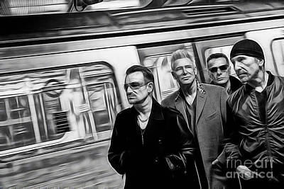 Irish Rock Band Mixed Media - U2 Collection by Marvin Blaine
