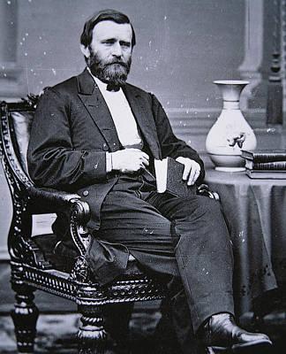 Statesmen Photograph - Ulysses Simpson Grant by Matthew Brady