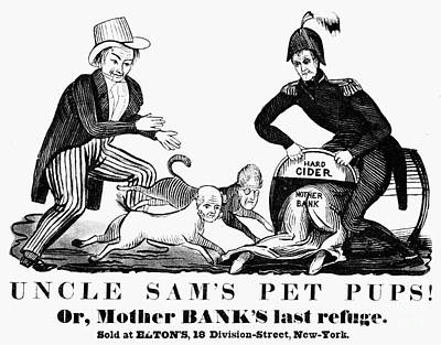 Uncle Sam Cartoon, 1840 Print by Granger