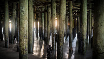 Under The Boardwalk Print by Kristopher Schoenleber