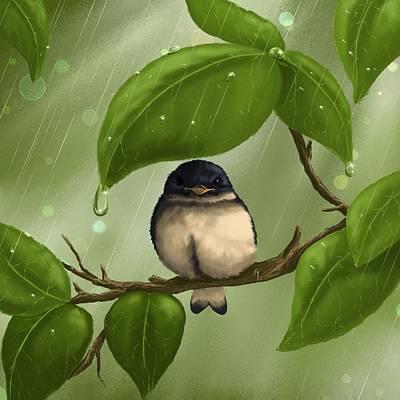 Digital Painting - Under The Rain by Veronica Minozzi