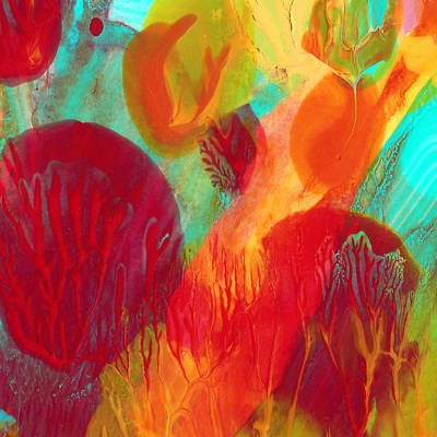 Under The Sea Abstract 2 Print by Amy Vangsgard