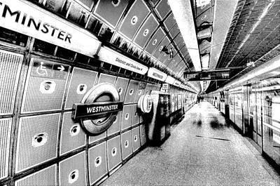 London Tube Digital Art - Underground London Art by David Pyatt