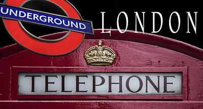 London Tube Mixed Media - Underground London by Daniel Hagerman