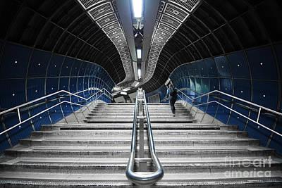 London Tube Mixed Media - Underground Stair by Svetlana Sewell