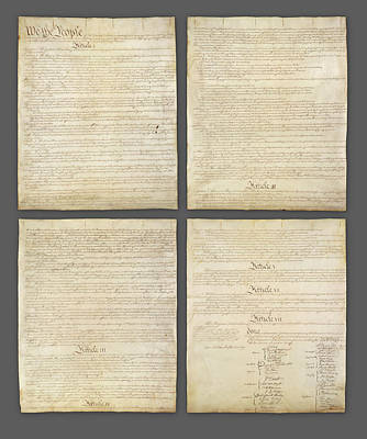 United States Constitution, Usa Print by Panoramic Images