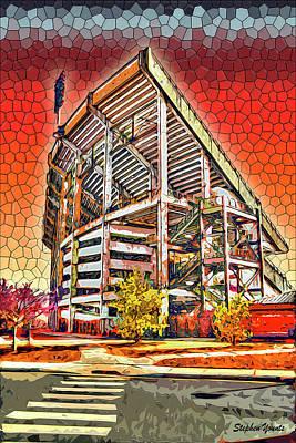 University Of Maryland - Byrd Stadium Print by Stephen Younts