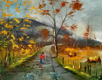 Walmart Painting - Autumn's Walked  by Bryan Benson