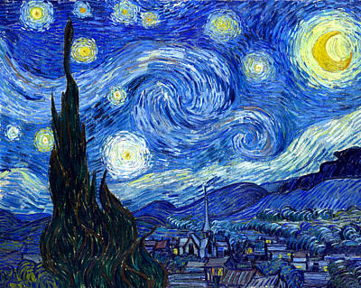 Education Painting - Van Gogh Starry Night by Vincent Van Gogh