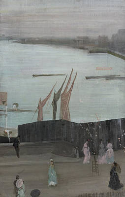 James Painting - Variations In Pink And Grey - Chelsea by James Abbott McNeill Whistler