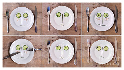 Vegetable Faces Print by Nailia Schwarz