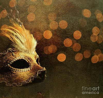 Venetian Mask Print by Jelena Jovanovic