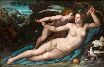 Alessandro Allori Painting - Venus And Cupid by Alessandro Allori