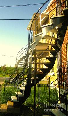 Montreal City Scenes Photograph - Verdun Stairs by Reb Frost