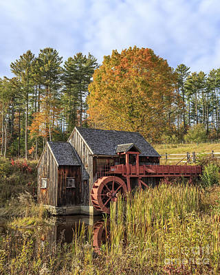 Vermont Grist Mill Original by Edward Fielding