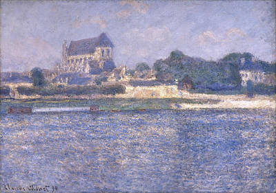 Perspective Painting - Vernon In The Sun by Claude Monet
