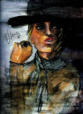 Mysterious Women Painting - Man Eater by P J Lewis