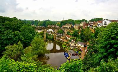 Knaresborough Photograph - Viaduct Over The River Nidd by Barry Marsh