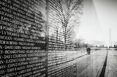Trees Photograph - Vietnam War Memorial In Washington Dc by Brandon Bourdages