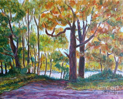Egg Tempera Painting - View From My Driveway by Jan Bennicoff