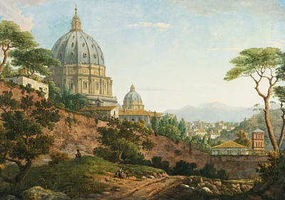 William Marlow Painting - View Of Saint Peter's. Rome by William Marlow