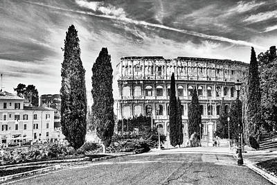 A Sunny Morning Photograph - View Of The Back Of The Coliseum Early On A Sunny Summer Morning by George Westermak