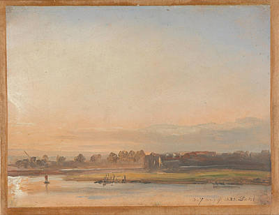 Johan Christian Dahl Painting - View Of The Elbe by Johan Christian Dahl