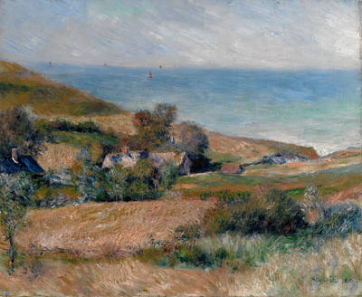 House Painting - View Of The Seacoast Near Wargemont In Normandy by Pierre-Auguste Renoir