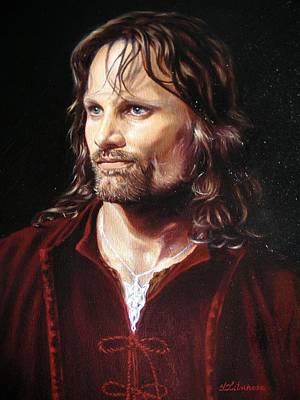 Arwen Painting - Viggo Mortensen As Aragorn by Yulia Litvinova