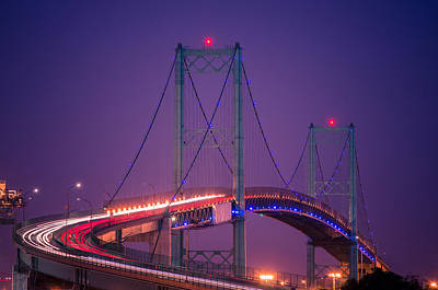 Pedro Photograph - Vincent Thomas Bridge by Carlos Sanchez